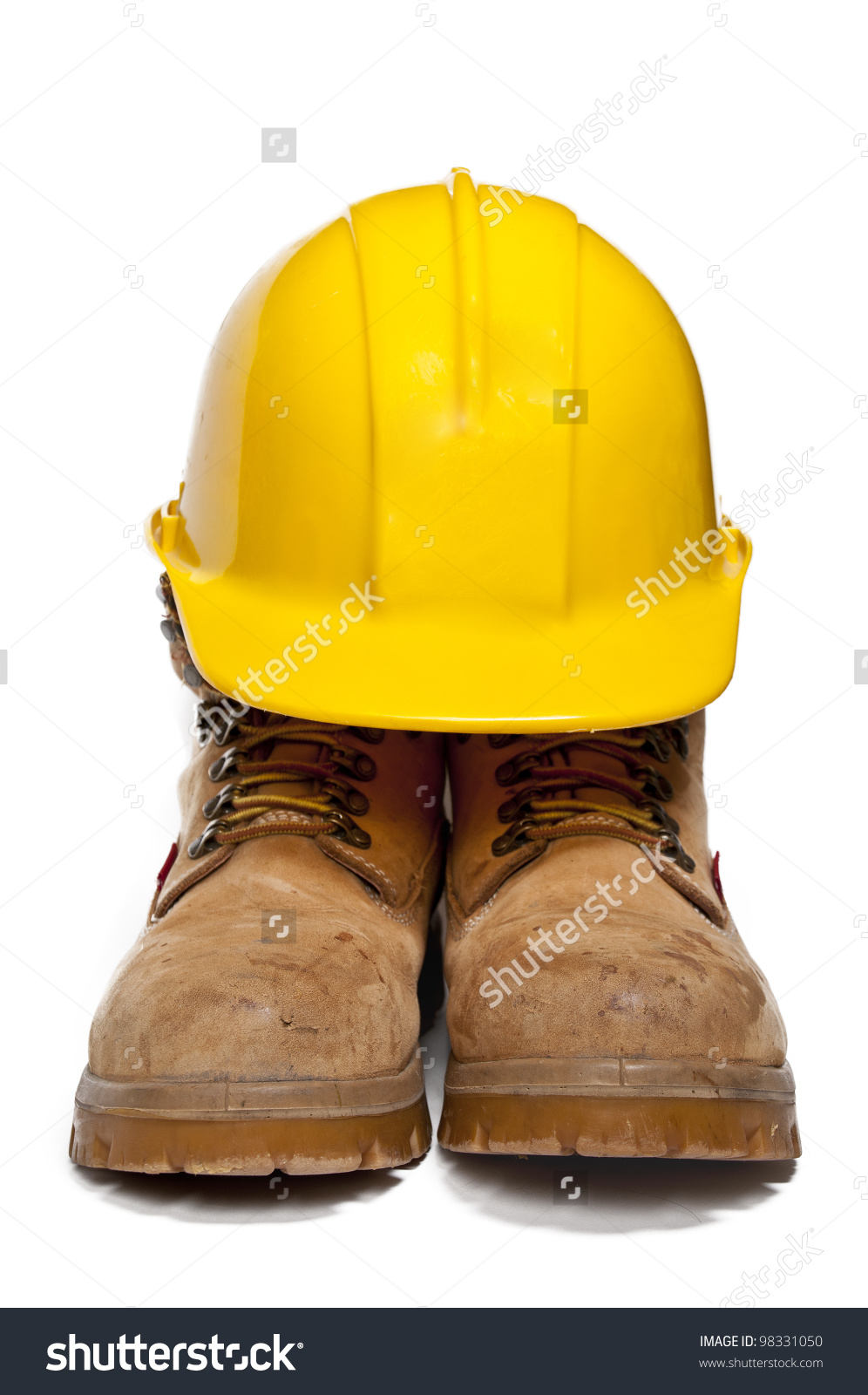 Construction Ppe Steel Toe Boots Yellow Stock Photo 98331050.