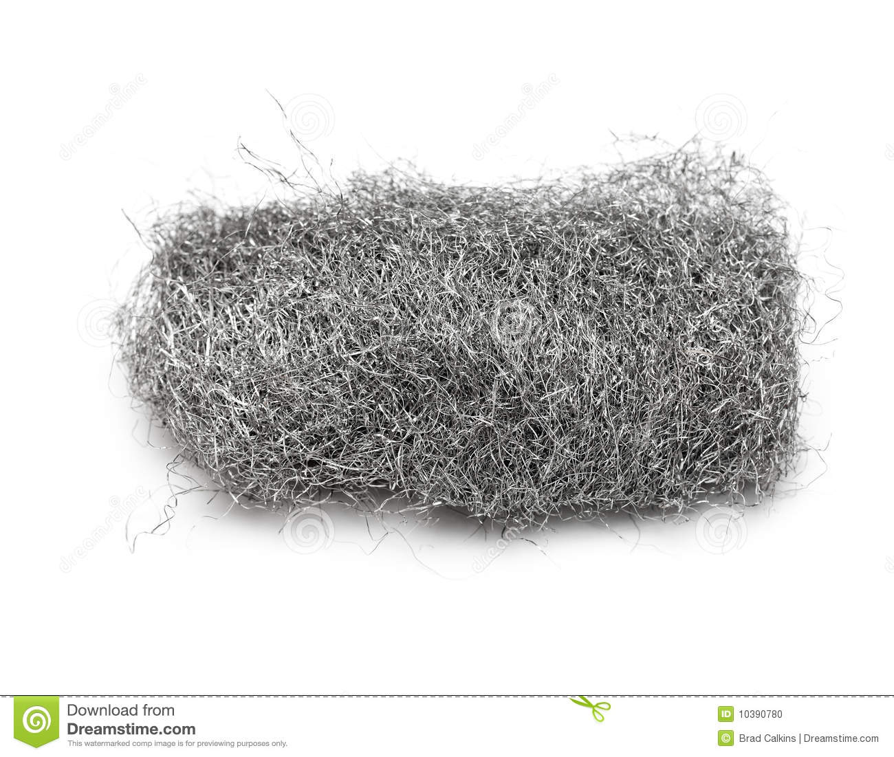 Steel Wool Stock Photo.