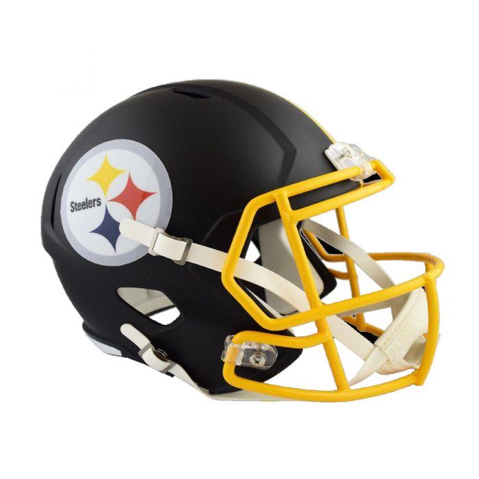 Pittsburgh Steelers Replica Matte Black Helmet.