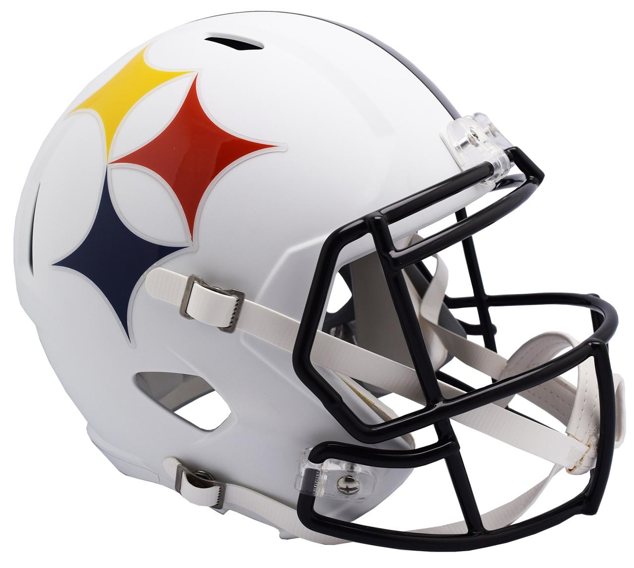 Pittsburgh Steelers AMP Alternate Speed Replica Full Size Football Helmet.