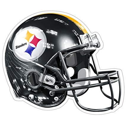 NFL Pittsburgh Steelers 3D Logo Helmet Magnet (Pack of 1).