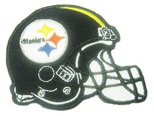 Details about New NFL Pittsburgh Steelers Football Logo Helmet embroidered  iron on patch. (i5).