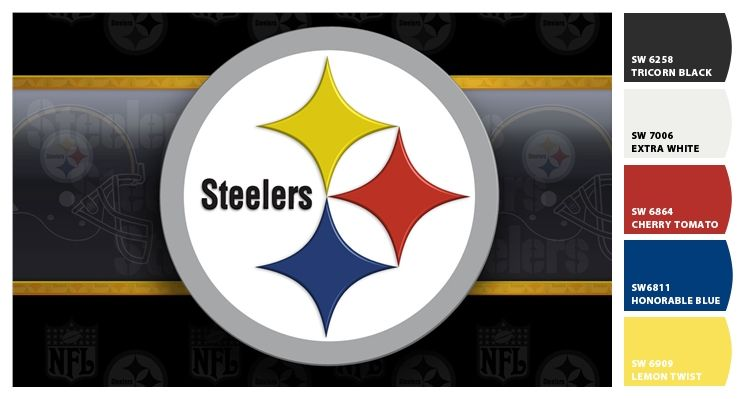 Steelers emblem paint colors from by Sherwin.
