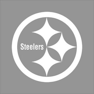 Details about Pittsburgh Steelers NFL Team Logo 1 Color Vinyl Decal Sticker  Car Window Wall.