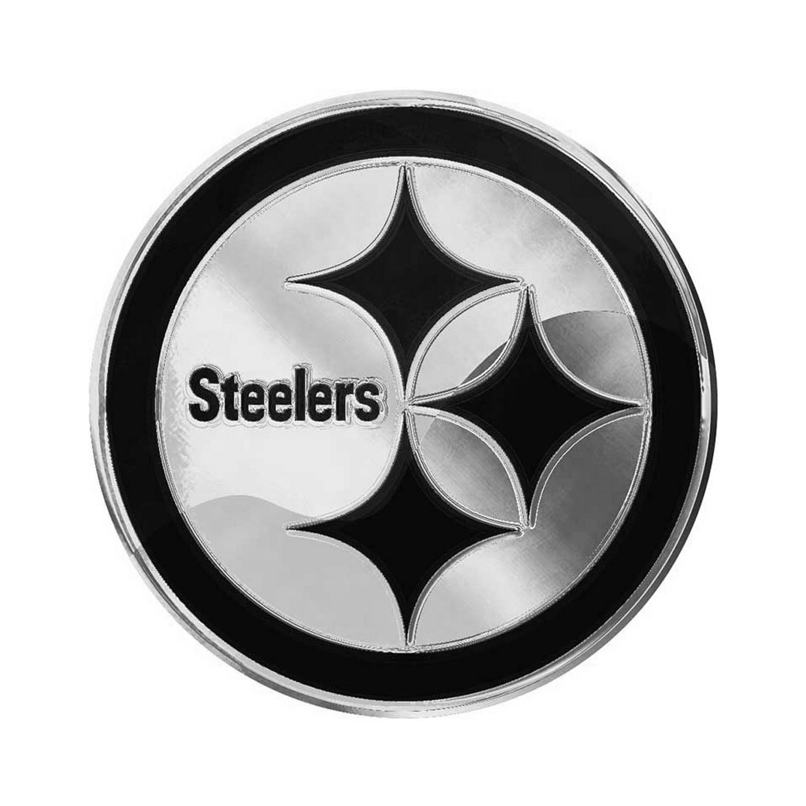 Details about Pittsburgh Steelers Premium Solid Metal Logo Car Truck Emblem  Decal Chrome Auto.