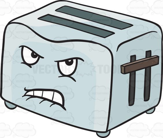 Disgruntled And Angry Pop Up Toaster Emoji.