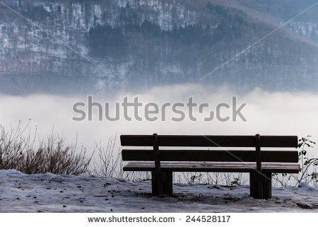 Snow Park Bench Stock Photos, Royalty.