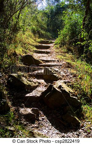 Stock Photographs of steep path.