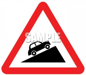 Steep Hill Road Signs Clip Art.