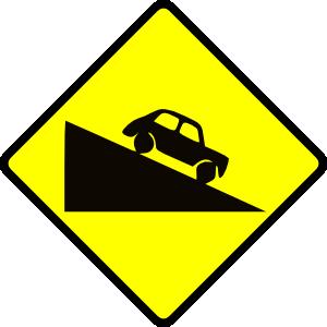 Caution Steep Hill Clip Art at Clker.com.