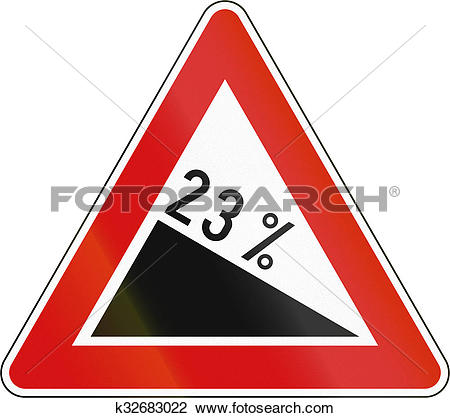 Clip Art of Slovenia road sign.