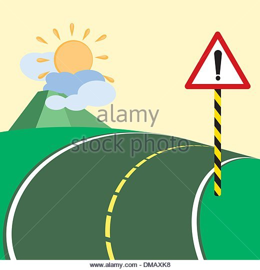 Steep Slope Caution Sign Stock Photos & Steep Slope Caution Sign.
