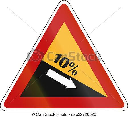 Clip Art of South Korea road sign.