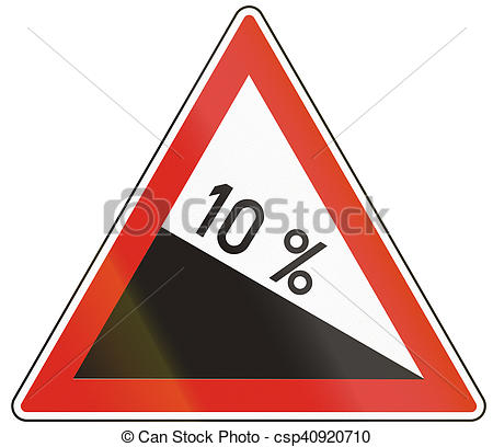 Clipart of Hungarian warning road sign.