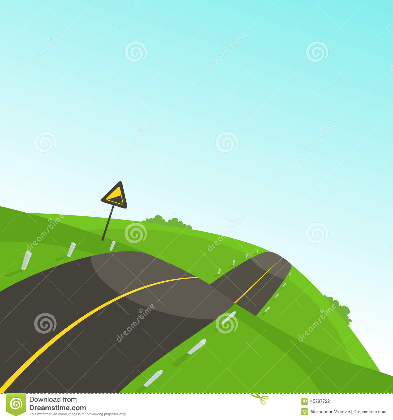 Steep Slope Road Traffic Sign Stock Photos, Images, & Pictures.
