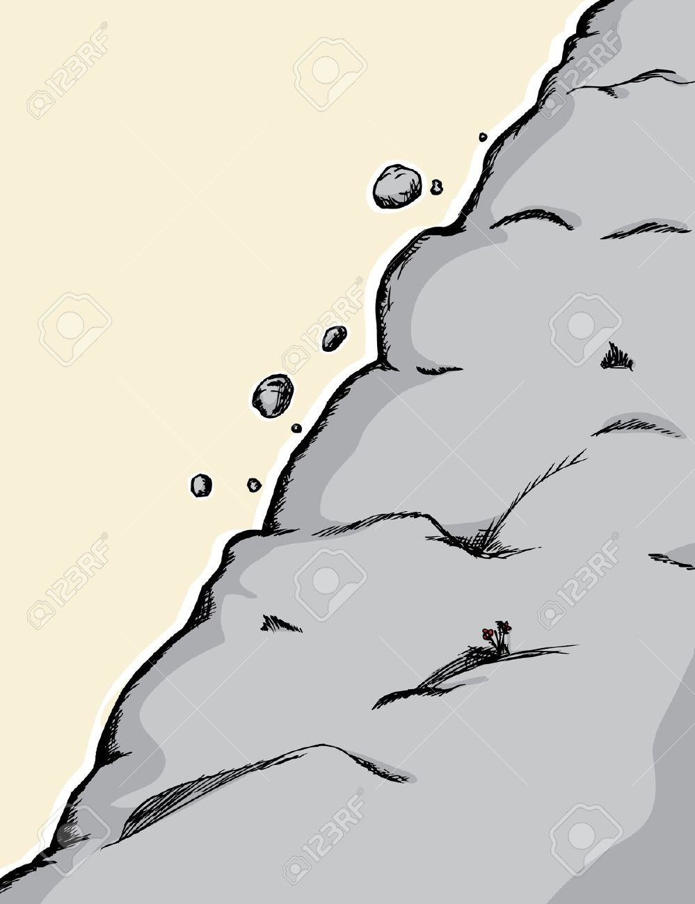 Steep Cliffs Clip Art.