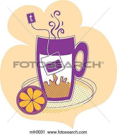Clipart of An image of tea steeping mfr0031.