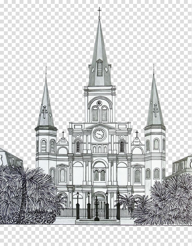 Drawing Building Church Watercolor painting Sketch, Church.