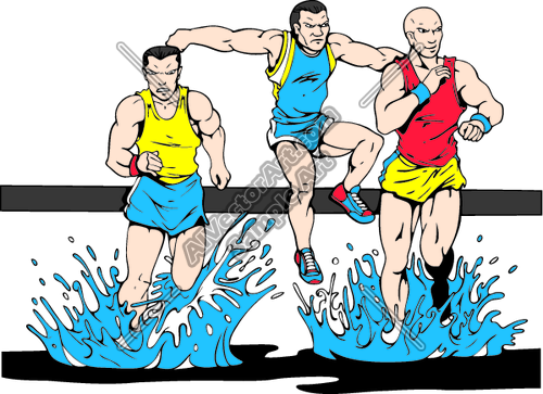steeplechase Clipart and Vectorart: Sports.
