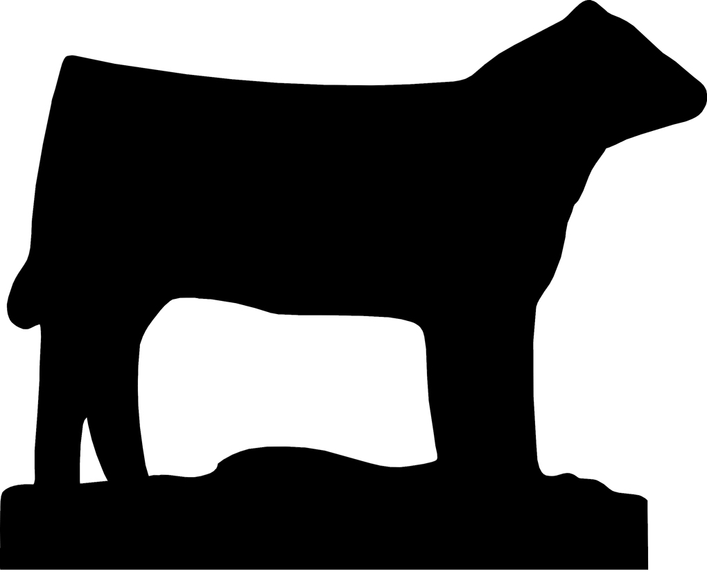 Show Steer Silhouette Clip Art N2 free image.