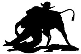 Download steer wrestling clip art clipart Steer wrestling.
