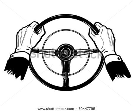 Holding Steering Wheel Clipart.