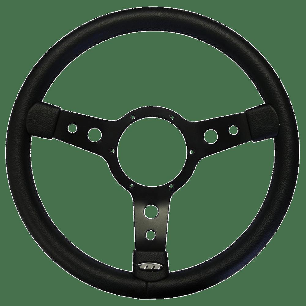 Black Steering Wheel transparent PNG.
