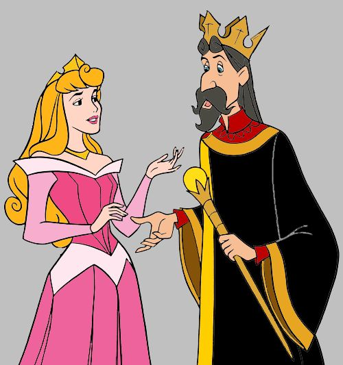 PRINCESS AURORA & KING STEFAN ~ Sleeping Beauty, 1959.