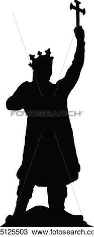 Clipart of silhouette of stefan cel mare k15125503.