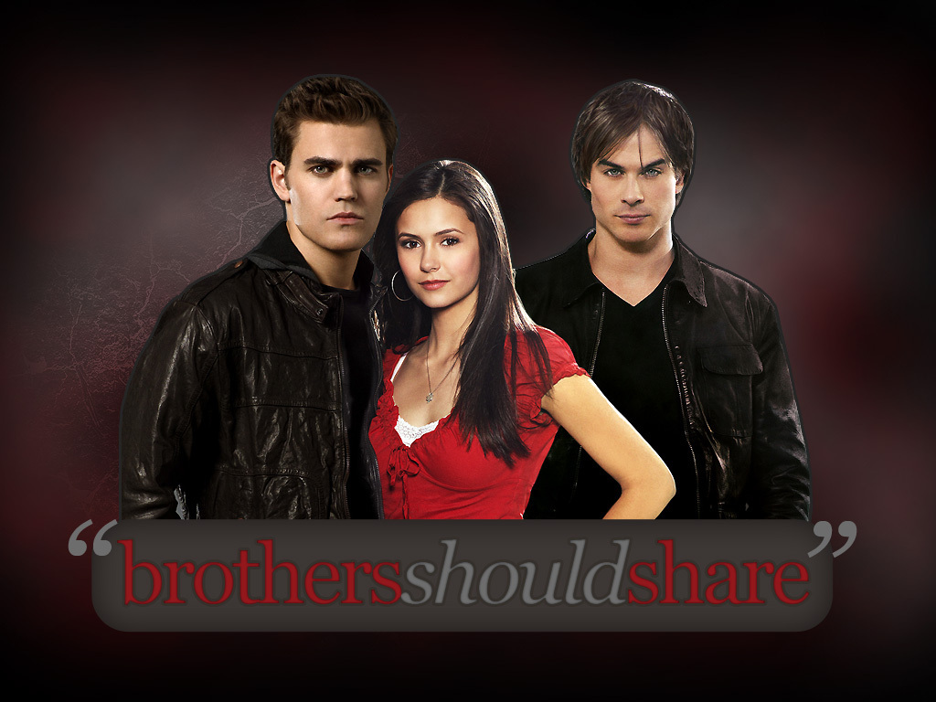 Vampire Diaries Clipart Damon And Stefan.