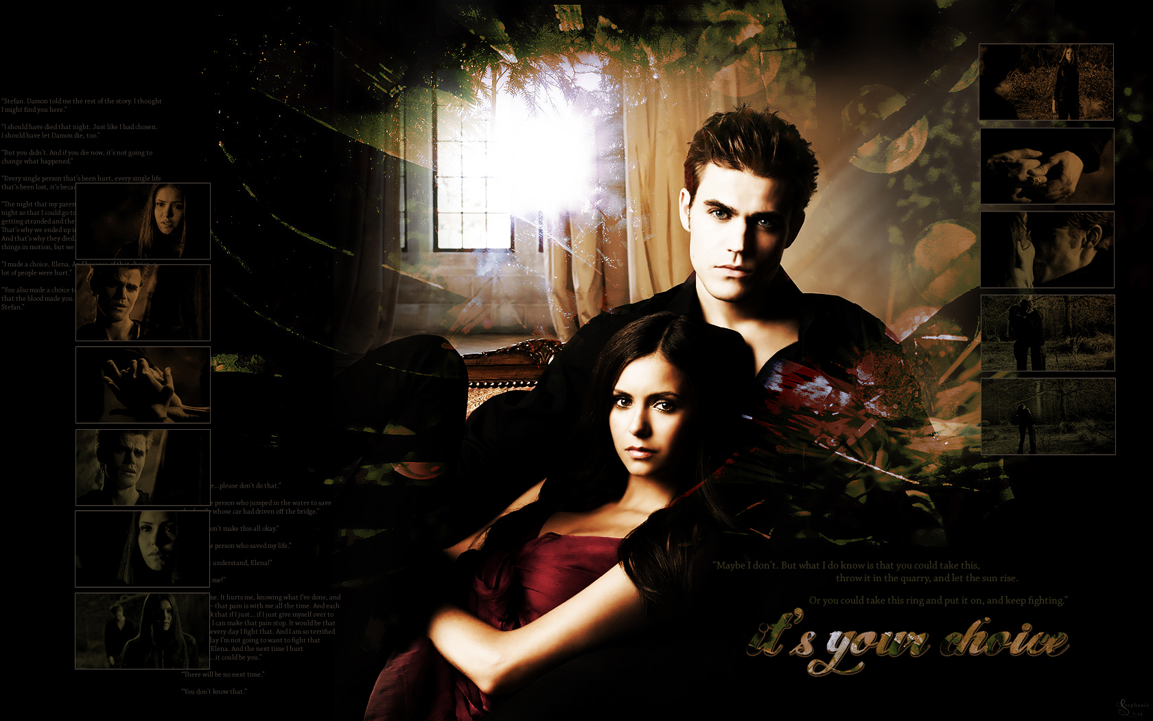 Stefan And Elena Clipart.