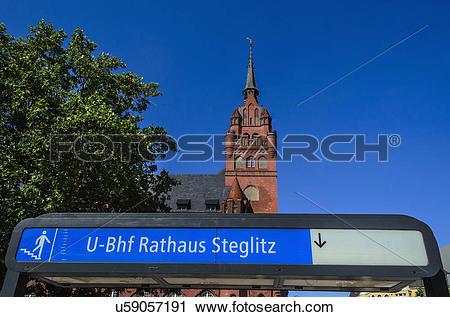 Stock Photography of Rathaus Steglitz U.
