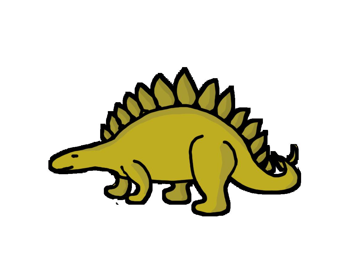 Stegosaurus Dinosaur Clip Art free image.