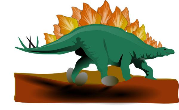 Stegosaurus Clip Art.