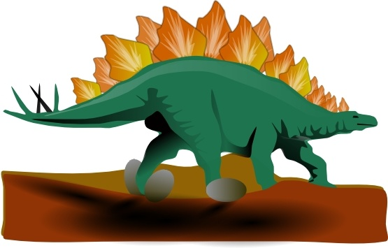 Stegosaurus clip art Free vector in Open office drawing svg.