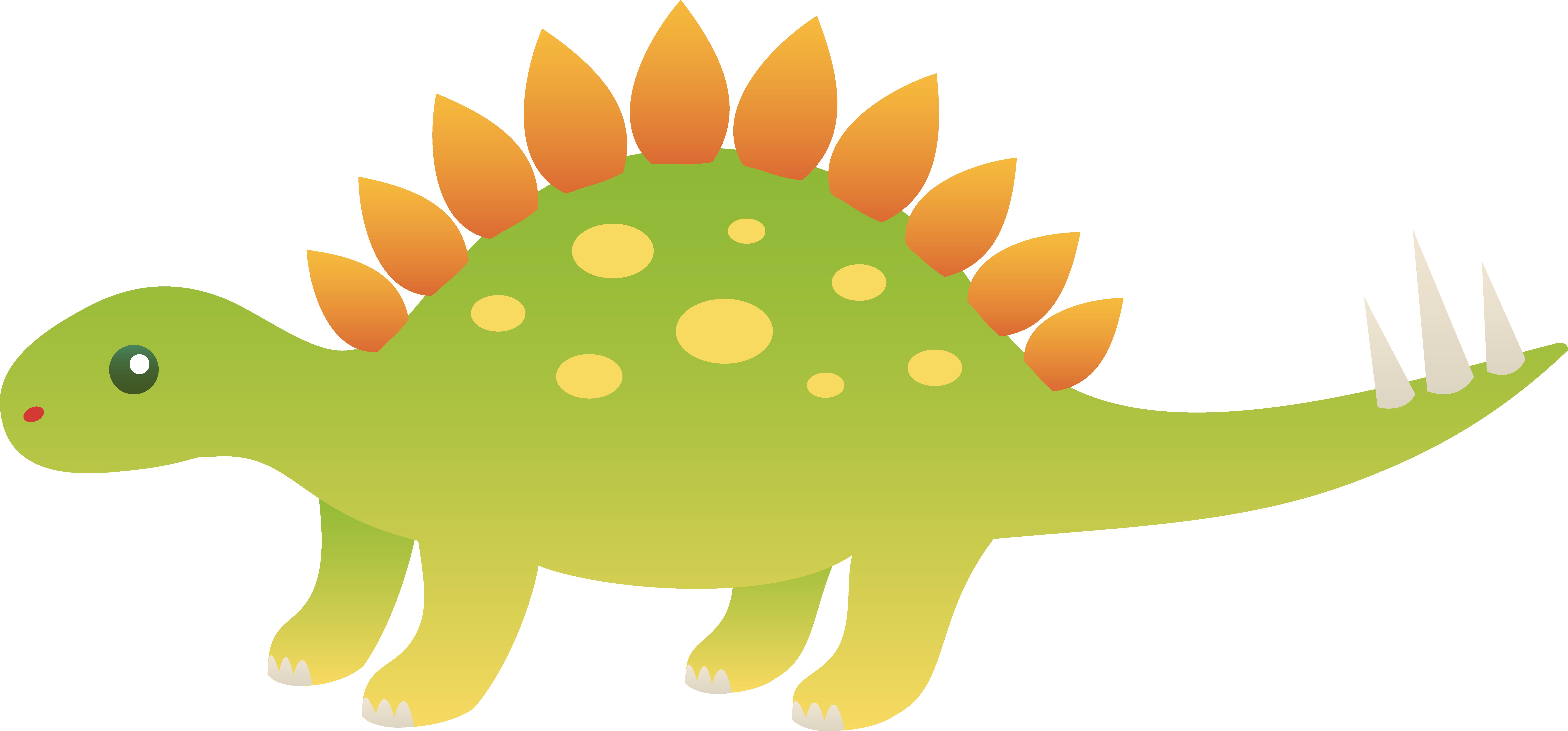Cute Stegosaurus Dinosaur.