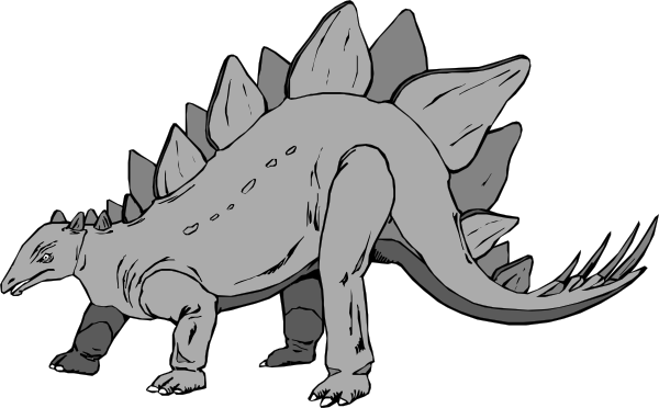 Gray Stegosaurus Clip Art at Clker.com.