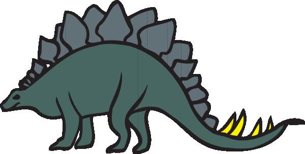 Green Cartoon Stegosaurus Clip Art at Clker.com.