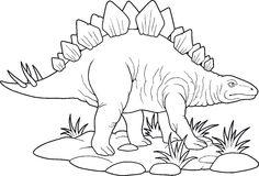 Stegosaurus Royalty Free Stock Image.