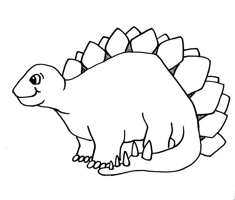 Stegosaurus Habitat Clipart Black And White.