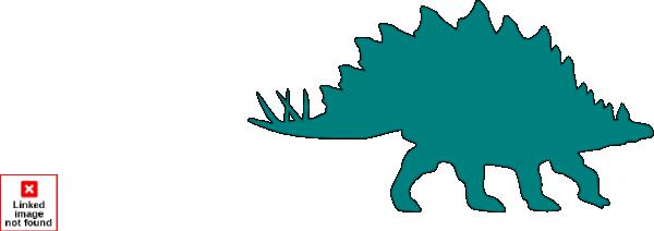 Teal Stegosaurus Clip Art at Clker.com.