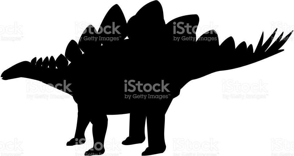Stegosaurus Silhouette stock vector art 642711722.