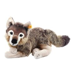 RESERVED FOR SUSAN Donatello the Gray Wolf: Needle felted animal.