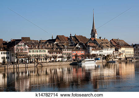 Stock Photo of Swiss town Stein am Rhein k14782714.