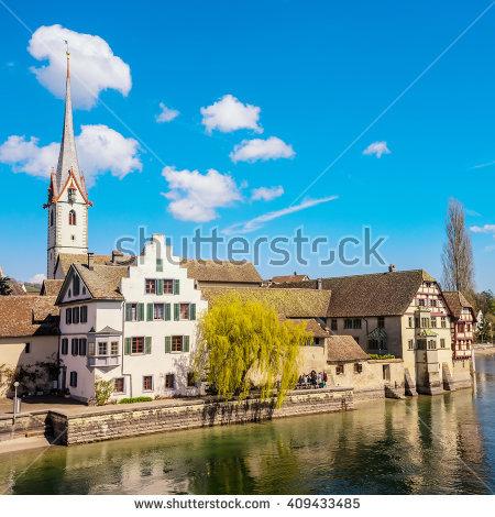 Schaffhausen Switzerland April 12 2016 Stein Stock Photo 411803611.