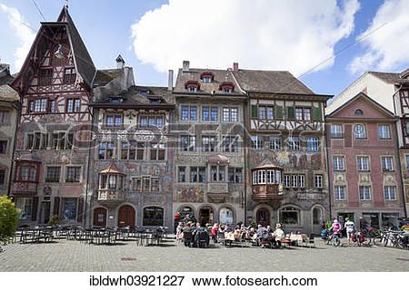 """Picture of """"Houses on Rathausplatz square in the historic centre."""