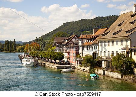 Picture of Rhein River in Stein Am Rhein Village csp7559417.