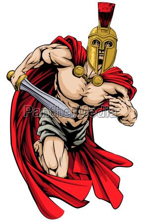 spartan oder trojaner mann.