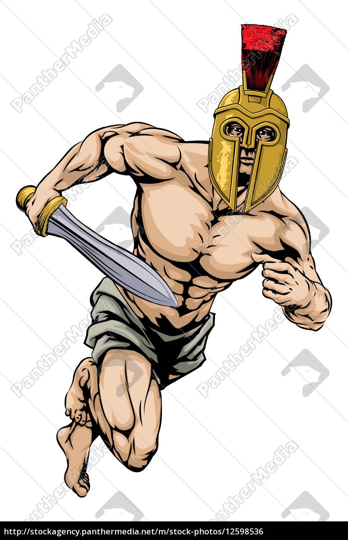 trojanische helm krieger.