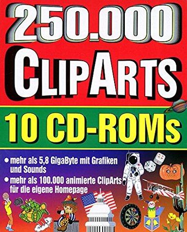 Zweihundertfünfzigtausend ClipArts, 10 CD.